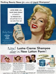 Monroe advertising shampoo in 1953