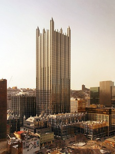 PPG Place in Pittsburgh, Pennsylvania, (1984).