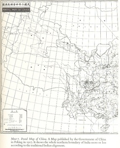 Postal Map of China published by the Government of China in 1917