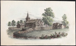 Protestant Church and Mission School, Red River Colony (Manitoba), c. 1820–1840.
