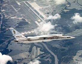 RVAH-14 RA-5C Vigilante over NAS Albany in 1969