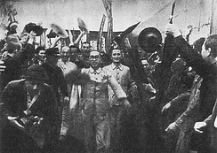 The Japanese government releases members of the Japan Communist Party on October 10, 1945.