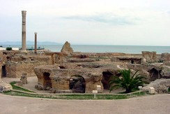Antonine baths ruins, from the Roman period