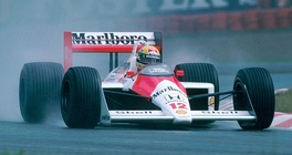 Senna won his first world title in 1988 driving that season's dominant McLaren MP4/4.