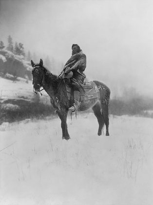 A scout on a horse, 1908 by Edward S. Curtis