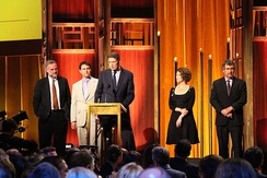 "The crew of FRONTLINE's ""United States of Secrets"" (2014), at the 74th Annual Peabody Awards"