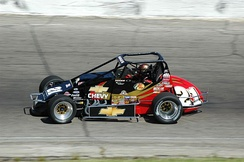 2008 Tracy Hines, pavement sprint car (without wing).
