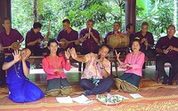Thai traditional musical ensembles at Wat Kungtapao Local Museum