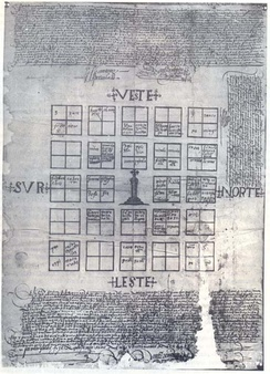 Print of the second foundation of Mendoza, 1562