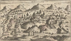 Topographic map of the city, c. 1600