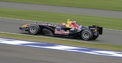 Liuzzi driving the third Red Bull Racing car during practice for the 2005 British Grand Prix