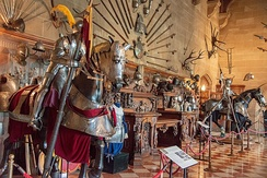 Display of armor and weaponry