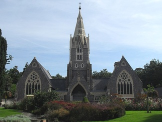In 1930, a crematorium was added to the 1857 chapels of the Woodvale Cemetery off Lewes Road, Brighton. It was the first crematorium in Sussex.[1]