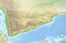 A topographic map of Yemen