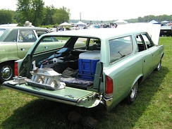 Two-way station wagon tailgate which hinges so it can open down or sideways