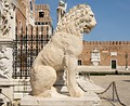 The Piraeus Lion in Venice, in front of the Venetian Arsenal