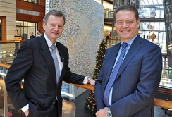 Former CEO Fredrik Baksaaas (left) with Ericsson CEO Carl-Henrik Svanberg, 2008.