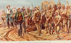 Piet Cronjé's followers delivering up their rifles