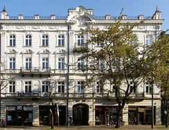 A tenement on Sienkiewicz Street, one of the main boulevards in the city