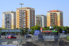 Apartment blocks built in communist Poland (these located in Poznań)