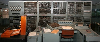 CSIRAC, Australia's first digital computer, as displayed at the Melbourne Museum