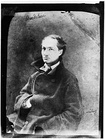 Charles Baudelaire 1855, Photo by Nadar. Baudelaire is associated with the Decadent movement. His book of poetry Les Fleurs du mal is acknowledged as a classic of French literature[8]