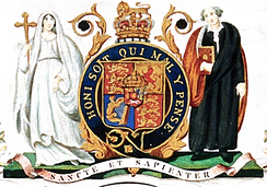 King's coat of arms used from 1829 to 1985