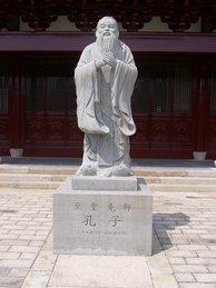 Statue of Confucius on Chongming Island in Shanghai