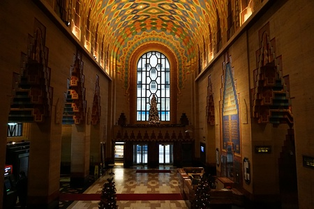 Lower lobby of the Guardian Building in Detroit by Wirt Rowland (1929)