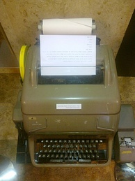The teleprinter that was used to send messages regarding the capture to Israel's diplomatic missions around the world