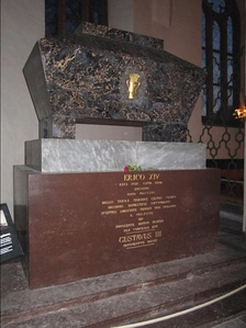 Eric's grave in Västerås Cathedral
