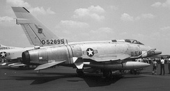 North American F-100D-50-NH Super Sabre Serial 55-2895 from the 401st Tactical Fighter Wing.