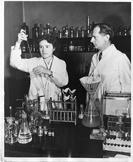 Gerty Cori and Carl Cori jointly won the Nobel Prize in 1947 for their discovery of  the Cori cycle at RPMI.