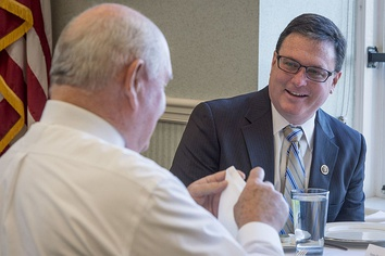 U.S. Department of Agriculture (USDA) Secretary Sonny Perdue with Rep. Todd Rokita