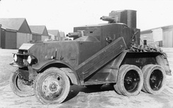 Crossley six-wheeled armoured car