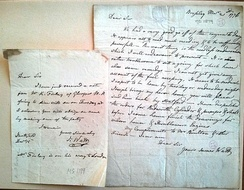 James Watt's letters from the Science Museum Library & Archives in Wroughton, near Swindon.