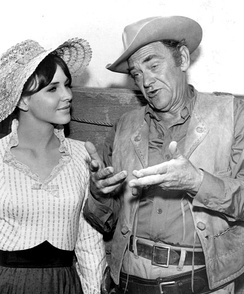 John McIntire as Chris Hale, with daughter Holly.