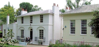 Wentworth Place (left), now the Keats House museum, Hampstead