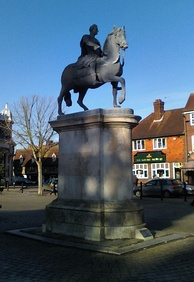 The statue of King William III in The Square