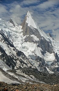 View of Laila Peak, which is located near Hushe Valley (a town in Khaplu)