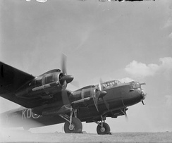 Engine testing on a Lancaster B Mark II of 115 Squadron at RAF East Wretham, 1943