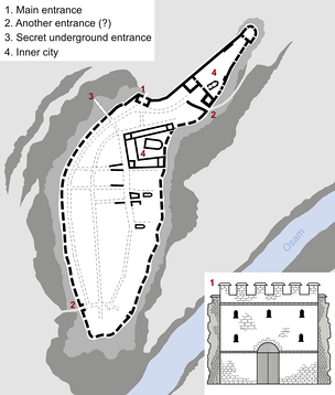 Plan of the medieval fortress of Lovech
