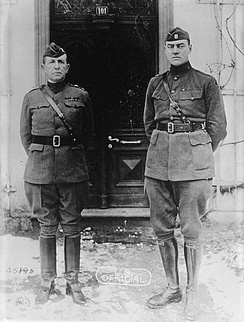 Maj. Gen. Mark L. Hersey and Capt. Hamilton Fish, Jr. (right)