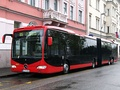 A typical red bus in Bratislava