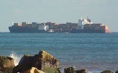 MSC Napoli beached off Branscombe