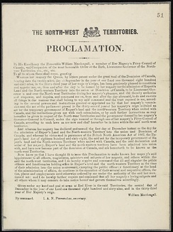 Proclamation concerning the admission of Rupert's Land and the North-Western Territories to Canada