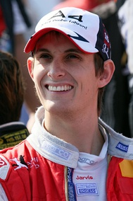 Oliver Jarvis, pictured here in 2009, secured pole position for Mazda Team Joest, and broke the Track Record in the process