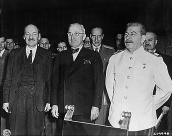 "The ""Big Three"": Attlee, Truman, Stalin"