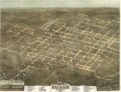 Raleigh, North Carolina in 1872