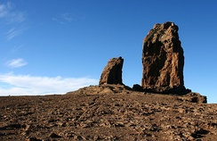 Roque Nublo in the interior of the island